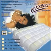 Flexinet Nackenstützkissen Visco XS S M L Nackenkissen Made in Germany