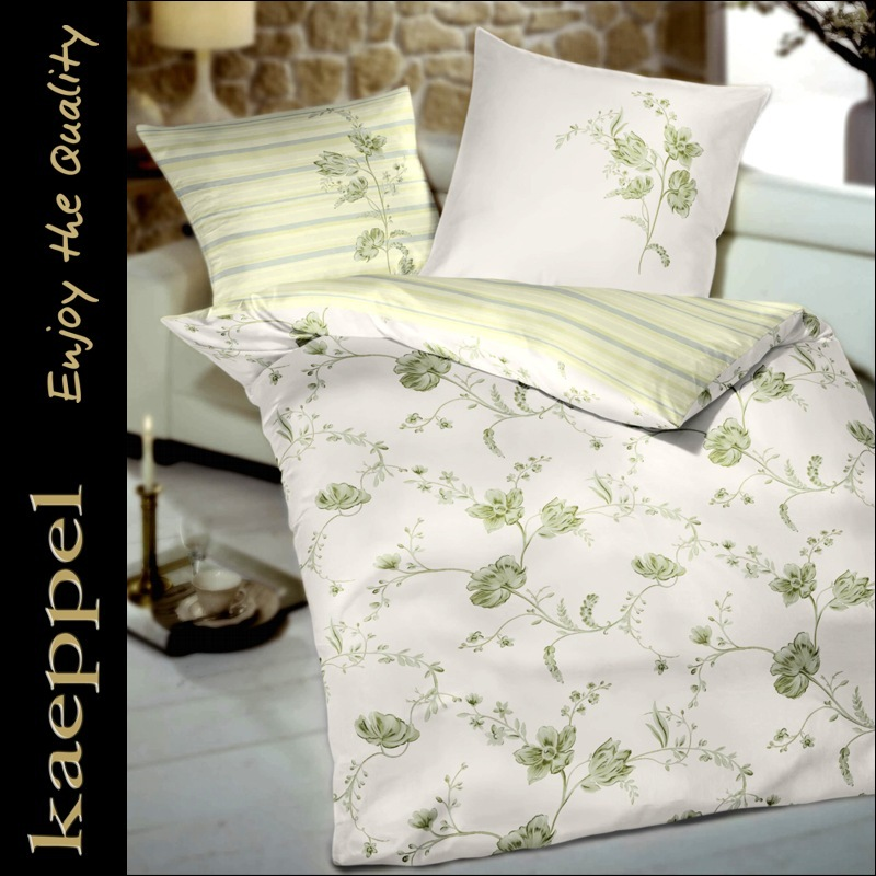 kaeppel mako satin bettw sche set 2 teilig 135 x 200 cm blumen ebay. Black Bedroom Furniture Sets. Home Design Ideas