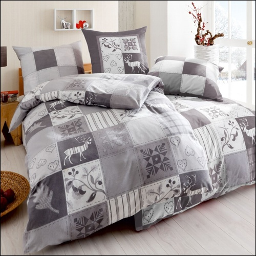 kaeppel biber bettw sche 135x200 cm design winterquilt 3239 silber herz kariert ebay. Black Bedroom Furniture Sets. Home Design Ideas