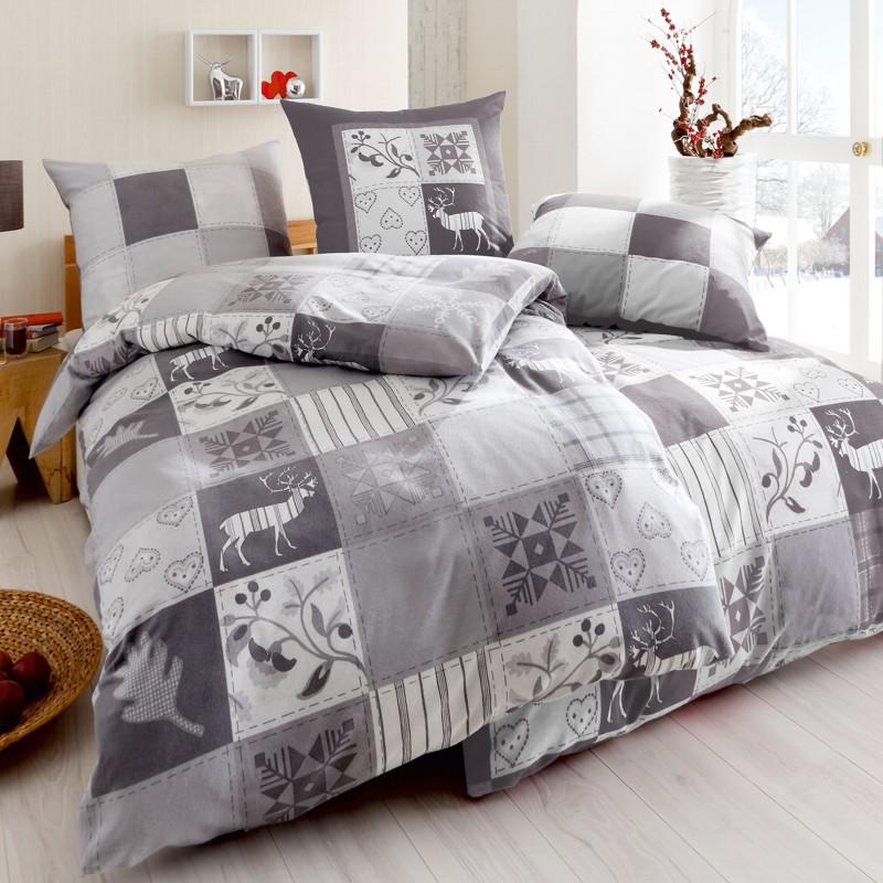 kaeppel biber bettw sche 155x220 cm design winterquilt 3239 silber. Black Bedroom Furniture Sets. Home Design Ideas
