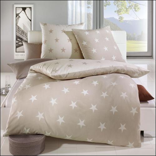 kaeppel biber bettw sche design stars natur ecru 32746 sterne wendebettw sche ebay. Black Bedroom Furniture Sets. Home Design Ideas