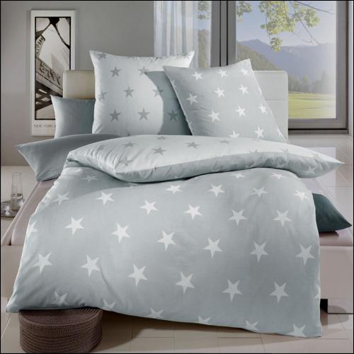 kaeppel biber wende bettw sche design stars schiefer grau. Black Bedroom Furniture Sets. Home Design Ideas