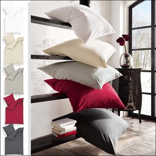 kaeppel uni biber bettw sche wei leinen silber anthrazit karmin 100 baumwolle ebay. Black Bedroom Furniture Sets. Home Design Ideas