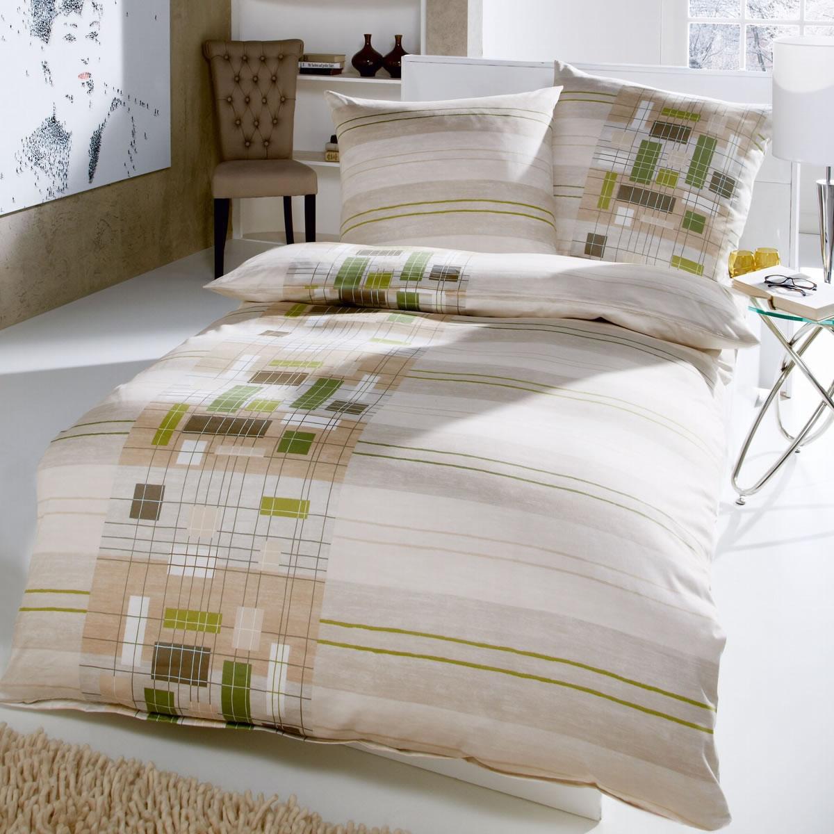 kaeppel microfaser flanell bettw sche 155x220 cm network 43163 khaki. Black Bedroom Furniture Sets. Home Design Ideas