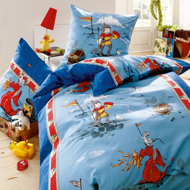 kaeppel kinderbettw sche biber 135x200 bettw sche 3821 little dragon blau ritter ebay. Black Bedroom Furniture Sets. Home Design Ideas