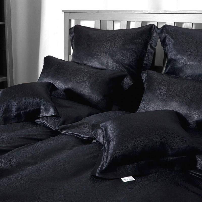 seidenweber collection seidendamast bettw sche kissenbezug galaxia 100 seide ebay. Black Bedroom Furniture Sets. Home Design Ideas